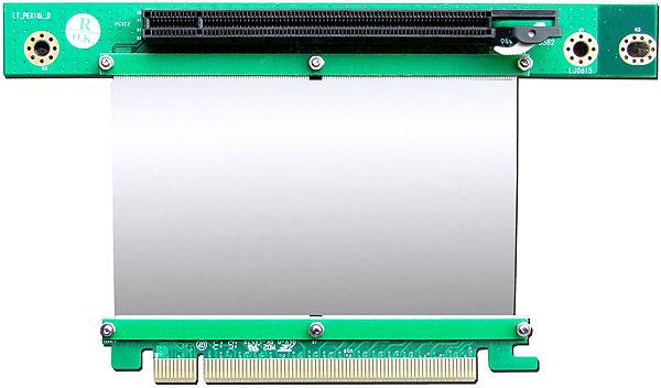 PLINKUSA RACKBUY 2U Rackmount Chassis PCI Express 16x Left Angle Riser Card for 2U 2nd Slot Expansion Slot 2U1E16XL-CENTER
