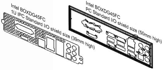 IO I//O Shield Back Plate BackPlate Plates for SUPERMICRO X9DR3-LN4F RE